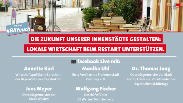 Facebook Live Zukunft unserer Innenstädte