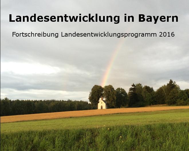 Banner Landesentwicklungsprogramm Bayern 2016